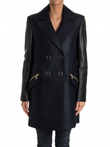 Karl Lagerfeld Double-Breasted Coat Blue