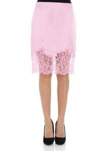Givenchy Pink Skirt With Lace Insert Pink