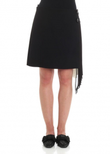 Givenchy Black Skirt With Pleated Insert Black