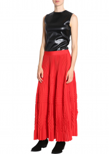 Givenchy Long Pleated Skirt RED