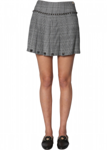 Versace Collection Pleated Skirt GREY