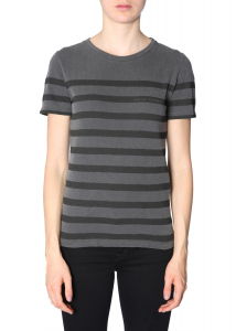 Saint Laurent Striped T-Shirt BLACK