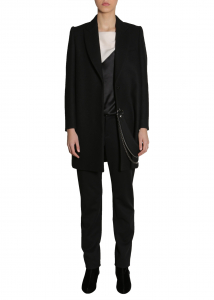 Lanvin Classic Coat With Chain BLACK