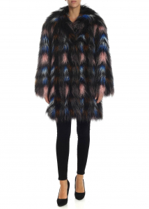 Kenzo Multicolor Eco-Mongolia Fur Black