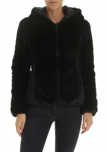 Save the Duck Padded Eco Fur In Black Black