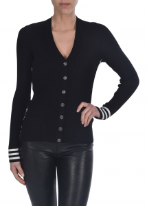 Off-White Knit Industrial Cardigan In Black Black
