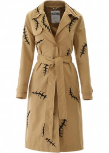 Moschino Embroidered Trench Coat FANTASIA BEIGE