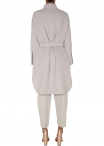 Brunello Cucinelli Coat With Belt WHITE