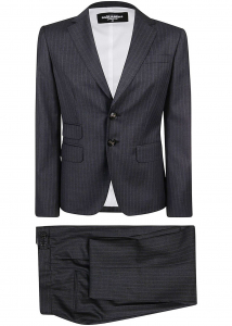 DSQUARED2 Striped Suit Grey
