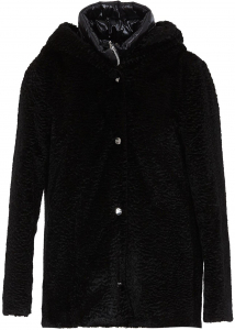 Herno Black Faux Fur Coat Black
