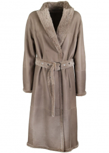 Brunello Cucinelli Reversible Shearling Coat In Brown Brown