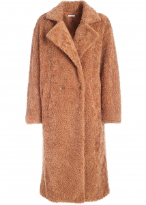 P.A.R.O.S.H. Teddy-Effect Coat In Camel Color Camel