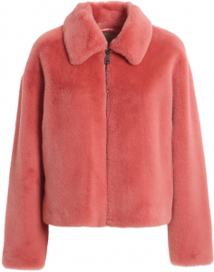 Twin-set Simona Barbieri Faux Leather Short Coat In Pink Color Pink