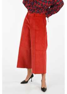 DSQUARED2 corduroy gaucho pants RED