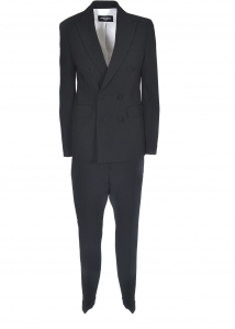 DSQUARED2 Double-Breasted Suit In Black Black