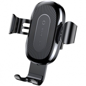 Suport auto Gravity Inductive Fast Charger Dash Mount Negru