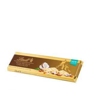 WHITE CHOCOLATE WITH ALMONDS AND COCONUT 300gr