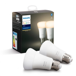 Set 2 becuri inteligente LED Hue functionalitate Bluetooth Ambianta alba E27 9W(60W) temperatura de culoare 2700K flux luminos 806 lumeni