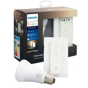 Kit Hue de reglare wireless a intensității 1x E27 8.5W (60W) temperatura culoare 2200-6500K 806 lumeni intrerupător cu variator inclus