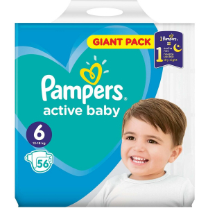 Scutece Pampers Active Baby 6 Giant Pack 56 bucati