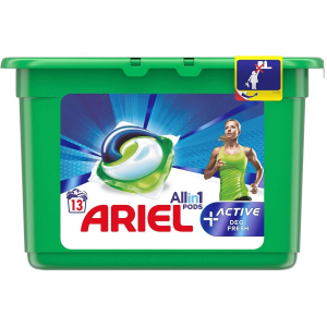Ariel All in 1 Pods +Active (Deo fresh) 13*30 ML