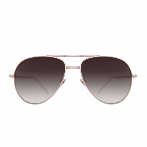 LINDA FARROW LFL518C6 SUNGLASSES WITH A FRAME MADE OF TITANUIM IN ROSE GOLD AND LENSES MADE OF NYLON LP/LI
