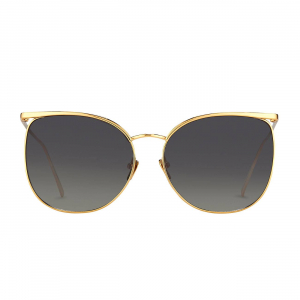 LINDA FARROW LFL509C4SUN SUNGLASSES WITH A FRAME MADE OF TITANIUM IN YELLOW GOLD AND LENSES MADE OF