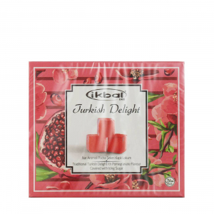 TURKISH DELIGHT - WITH POMEGRANATE FLAVOUR COVERED WITH ICING SUGAR 125gr