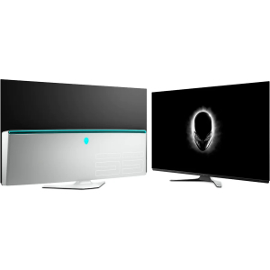 Monitor LED Alienware Gaming AW5520QF OLED 55 inch 0.5 ms Negru FreeSync 120 Hz