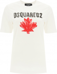 DSQUARED2 8094721-58631665 DSQUARED2 T-Shirt With Logo Print WHITE