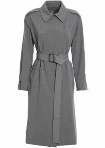 Max Mara Bondeno Overcoat In Grey Grey