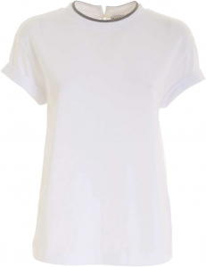 Brunello Cucinelli Micro Beads T-Shirt In White White