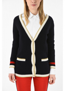 Gucci Cardigan with Pearl Buttons BLUE