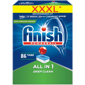 Detergent de vase pentru masina de spalat Finish All in One 86 tablete