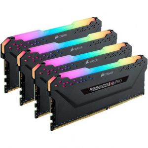 Memorie Vengeance RGB PRO Black for AMD 128GB (4x32GB) DDR4 3600MHz CL18 1.35V Quad Channel Kit