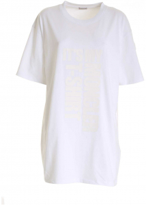 Moncler Branded Maxi T-Shirt In White White
