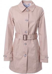 Woolrich Jessamine Trench Coat In Feather Beige Beige