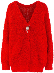 Givenchy Padlock Cardigan In Red BW90CL4Z9G629 Red