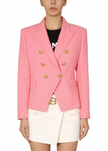 Balmain Double-Breasted Jacket VF17110_C2084KH PINK
