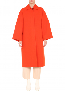 Jil Sander Oversize Fit Coat JSPR120682_WR200503620 RED
