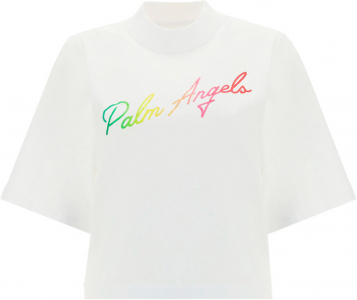 Palm Angels Miami T-Shirt PWAA020S21JER003 WHITE MULTI