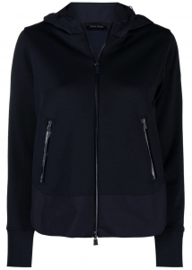 Herno 8390412-59975307 Herno Nylon Insert Hoodie In Black JC005DL520089201 Black