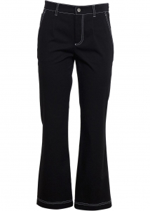 RED VALENTINO 8390415-59975310 RED VALENTINO Contrast Stitching Pants In Black VR0RBE155S70NO Black