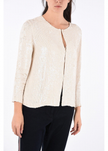P.A.R.O.S.H. sequined GUGHI cardigan WHITE