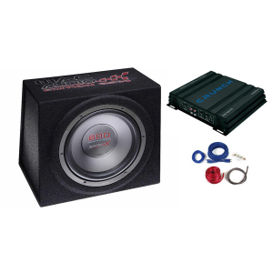 Pachet subwoofer auto Mac Audio Edition BS 30  250W + Amplificator Crunch GPX 500.2  250W  2 canale + Kit cabluri 10mm2