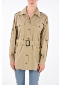 Dolce & Gabbana Belted Cropped Trench BEIGE