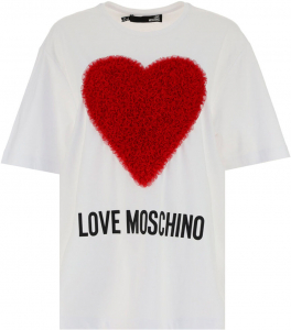 LOVE Moschino T-Shirt W4F8742M3517 A00+CUORE ROSSO