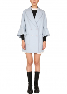 RED VALENTINO Double-Breasted Coat WR0CAD94_497B43 BABY BLUE