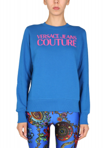 Versace Jeans Couture Sweatshirt With Logo Print 71HAIF01_CF00F243 BLUE