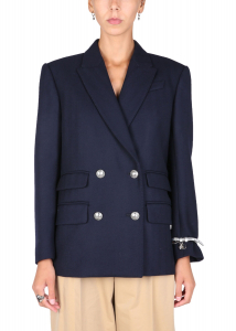 Alexander McQueen Double-Breasted Jacket 666074_QJACG4100 BLUE